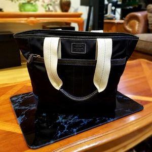 Coach Hamptons Weekender Black bag purse